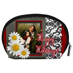 Happy Holiday By Betty   Accessory Pouch (large)   H3xaj9vm8sqn   Www Artscow Com Back