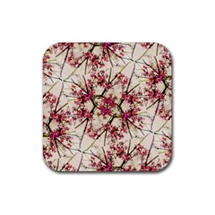 Red Deco Geometric Nature Collage Floral Motif Drink Coasters 4 Pack (square) by dflcprints