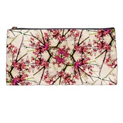 Red Deco Geometric Nature Collage Floral Motif Pencil Case