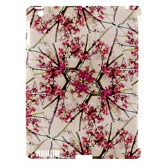 Red Deco Geometric Nature Collage Floral Motif Apple Ipad 3/4 Hardshell Case (compatible With Smart Cover)