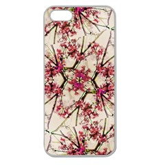 Red Deco Geometric Nature Collage Floral Motif Apple Seamless Iphone 5 Case (clear) by dflcprints