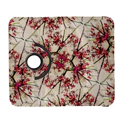 Red Deco Geometric Nature Collage Floral Motif Samsung Galaxy S  Iii Flip 360 Case by dflcprints