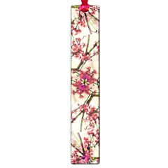 Red Deco Geometric Nature Collage Floral Motif Large Bookmark by dflcprints