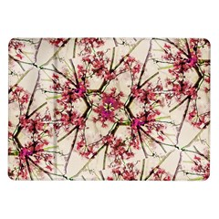 Red Deco Geometric Nature Collage Floral Motif Samsung Galaxy Tab 10 1  P7500 Flip Case