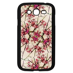Red Deco Geometric Nature Collage Floral Motif Samsung Galaxy Grand Duos I9082 Case (black) by dflcprints