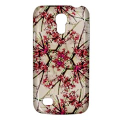 Red Deco Geometric Nature Collage Floral Motif Samsung Galaxy S4 Mini (gt I9190) Hardshell Case