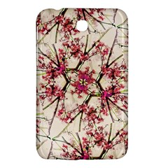 Red Deco Geometric Nature Collage Floral Motif Samsung Galaxy Tab 3 (7 ) P3200 Hardshell Case  by dflcprints