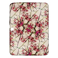 Red Deco Geometric Nature Collage Floral Motif Samsung Galaxy Tab 3 (10 1 ) P5200 Hardshell Case  by dflcprints