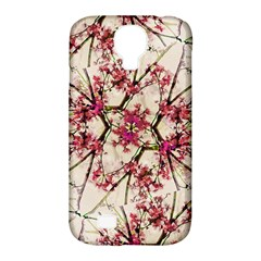 Red Deco Geometric Nature Collage Floral Motif Samsung Galaxy S4 Classic Hardshell Case (pc+silicone)