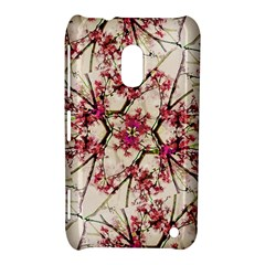 Red Deco Geometric Nature Collage Floral Motif Nokia Lumia 620 Hardshell Case