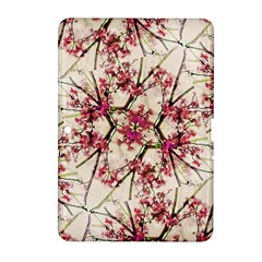 Red Deco Geometric Nature Collage Floral Motif Samsung Galaxy Tab 2 (10 1 ) P5100 Hardshell Case  by dflcprints