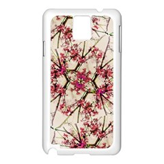 Red Deco Geometric Nature Collage Floral Motif Samsung Galaxy Note 3 N9005 Case (white)