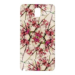Red Deco Geometric Nature Collage Floral Motif Samsung Galaxy Note 3 N9005 Hardshell Back Case
