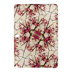 Red Deco Geometric Nature Collage Floral Motif Samsung Galaxy Tab Pro 12 2 Hardshell Case by dflcprints