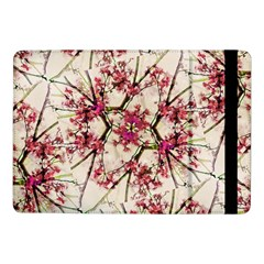 Red Deco Geometric Nature Collage Floral Motif Samsung Galaxy Tab Pro 10 1  Flip Case by dflcprints