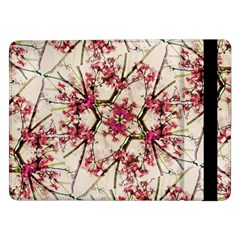 Red Deco Geometric Nature Collage Floral Motif Samsung Galaxy Tab Pro 12 2  Flip Case