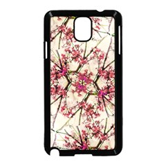 Red Deco Geometric Nature Collage Floral Motif Samsung Galaxy Note 3 Neo Hardshell Case (black) by dflcprints