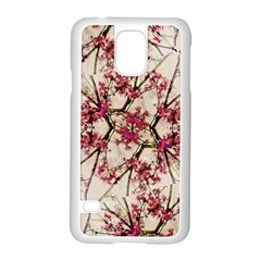 Red Deco Geometric Nature Collage Floral Motif Samsung Galaxy S5 Case (white) by dflcprints