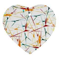 Colorful Splatter Abstract Shapes Heart Ornament by dflcprints