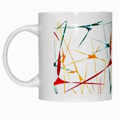 Colorful Splatter Abstract Shapes White Coffee Mug by dflcprints