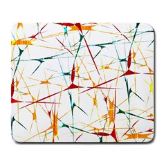Colorful Splatter Abstract Shapes Large Mouse Pad (rectangle) by dflcprints