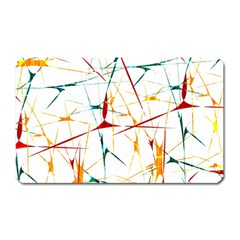 Colorful Splatter Abstract Shapes Magnet (rectangular) by dflcprints