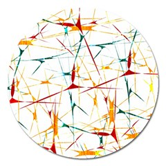 Colorful Splatter Abstract Shapes Magnet 5  (round) by dflcprints
