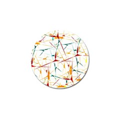 Colorful Splatter Abstract Shapes Golf Ball Marker 10 Pack by dflcprints