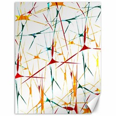 Colorful Splatter Abstract Shapes Canvas 12  X 16  (unframed) by dflcprints