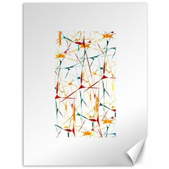 Colorful Splatter Abstract Shapes Canvas 36  X 48  (unframed) by dflcprints