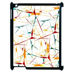 Colorful Splatter Abstract Shapes Apple Ipad 2 Case (black) by dflcprints
