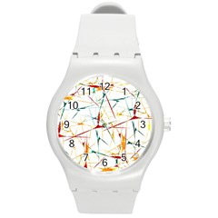 Colorful Splatter Abstract Shapes Plastic Sport Watch (medium) by dflcprints
