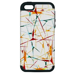 Colorful Splatter Abstract Shapes Apple Iphone 5 Hardshell Case (pc+silicone) by dflcprints