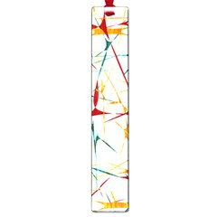 Colorful Splatter Abstract Shapes Large Bookmark by dflcprints
