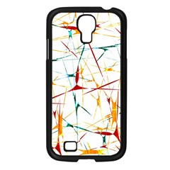 Colorful Splatter Abstract Shapes Samsung Galaxy S4 I9500/ I9505 Case (black) by dflcprints