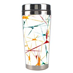 Colorful Splatter Abstract Shapes Stainless Steel Travel Tumbler by dflcprints