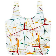 Colorful Splatter Abstract Shapes Reusable Bag (xl) by dflcprints