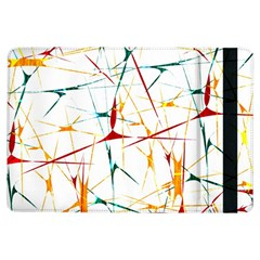 Colorful Splatter Abstract Shapes Apple Ipad Air Flip Case by dflcprints