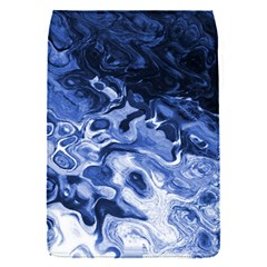Blue Waves Abstract Art Removable Flap Cover (small)