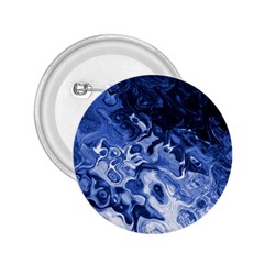 Blue Waves Abstract Art 2 25  Button