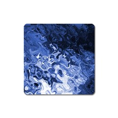 Blue Waves Abstract Art Magnet (square) by LokisStuffnMore