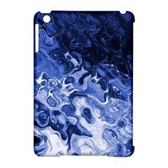 Blue Waves Abstract Art Apple Ipad Mini Hardshell Case (compatible With Smart Cover) by LokisStuffnMore