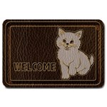 Leather-Look Kitten Large Doormat
