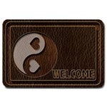 Leather-Look Yin Yang Large Doormat