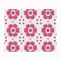 Sweety Pink Floral Pattern Glasses Cloth (small) by dflcprints
