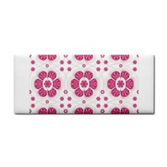 Sweety Pink Floral Pattern Hand Towel by dflcprints