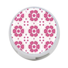 Sweety Pink Floral Pattern 4 Port Usb Hub (one Side) by dflcprints