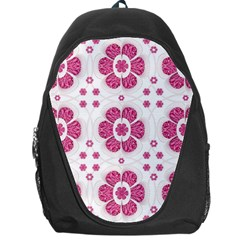 Sweety Pink Floral Pattern Backpack Bag by dflcprints