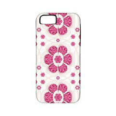 Sweety Pink Floral Pattern Apple Iphone 5 Classic Hardshell Case (pc+silicone) by dflcprints