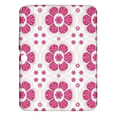Sweety Pink Floral Pattern Samsung Galaxy Tab 3 (10.1 ) P5200 Hardshell Case  by dflcprints